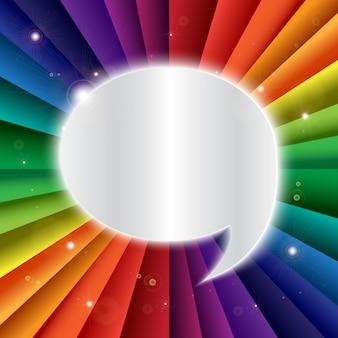 Insegna luminosa di festa di celebrazione dell'arcobaleno di vettore