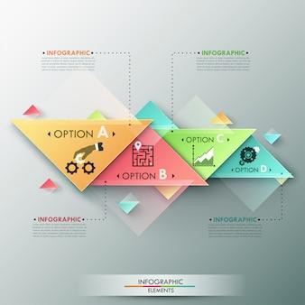 Insegna moderna di opzioni di infographics 3d