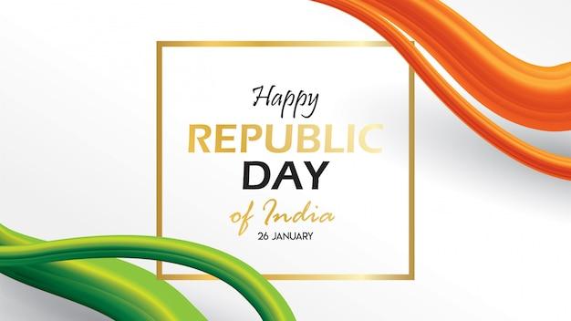 Insegna o manifesto di progettazione del fondo di giorno della repubblica dell'india