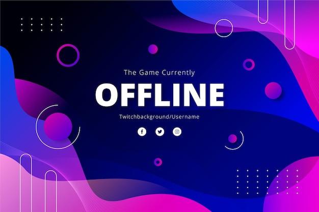 Insegna offline di twitch di effetto liquido astratto