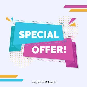 Insegna variopinta astratta di vendita di offerta speciale