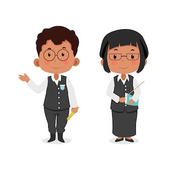 Insegnante di personaggi per bambini carini