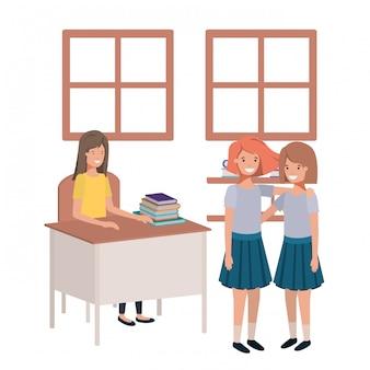 Insegnante in classe con gli studenti