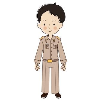 Insegnante maschio tailandese in uniforme