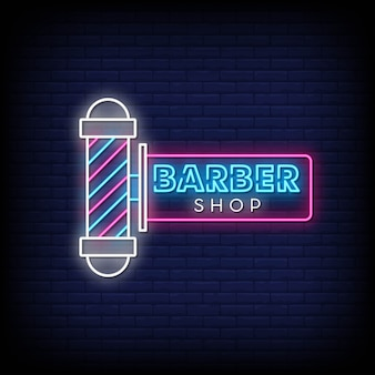 Insegne al neon di barber shop day