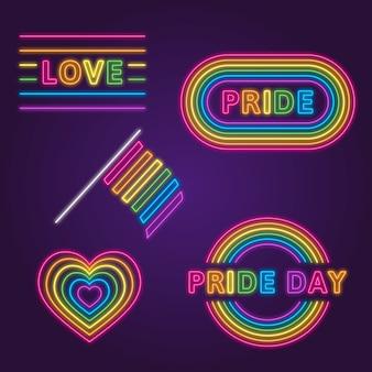 Insegne al neon per eventi pride day