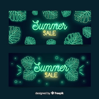 Insegne di vendita di estate di luci al neon