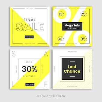 Insegne di vendita moderne per social media