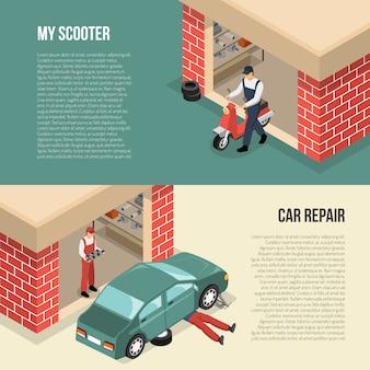 Insegne isometriche orizzontali del garage