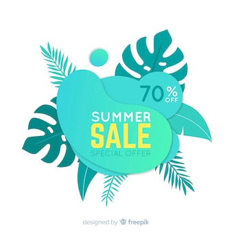 Insegne liquide di vendita di estate