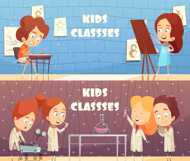 Insegne orizzontali delle classi dei bambini