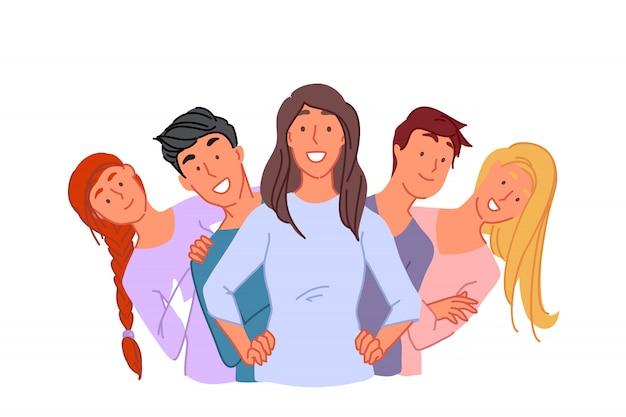 Insieme, amicizia, concetto di unità