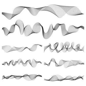 Insieme astratto di vettore di impulso delle onde sonore di musica