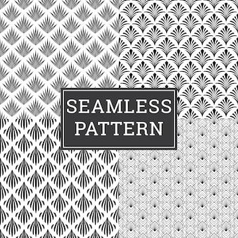 Insieme decorativo senza cuciture del fondo di art deco pattern texture.