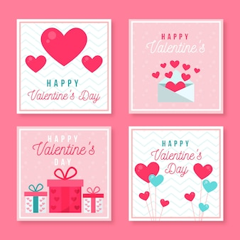 Insieme dei messaggi di instagram di san valentino