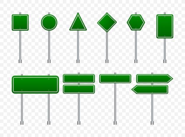 Insieme dei segnali stradali isolato su trasparente