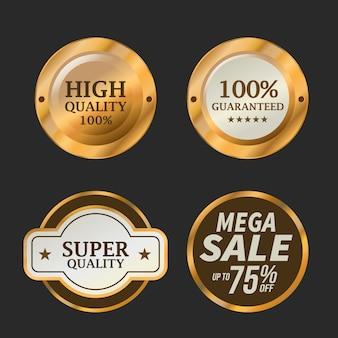 Insieme del distintivo di offerta speciale e di vendita, illustrazione di vettore.