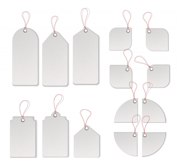 Insieme del modello di vettore delle etichette e delle etichette di vendita