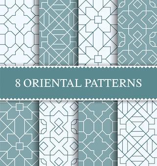 Insieme del modello senza cuciture arabo tradizionale