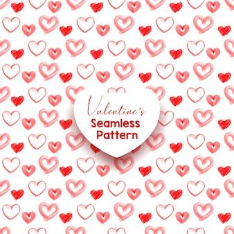 Insieme del reticolo senza giunte del cuore. ornamento decorativo astratto ed elegante di giorno di s. valentino. illustrazione vettoriale