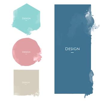Insieme dell'illustrazione di progettazione dei modelli di distintivo di annuncio