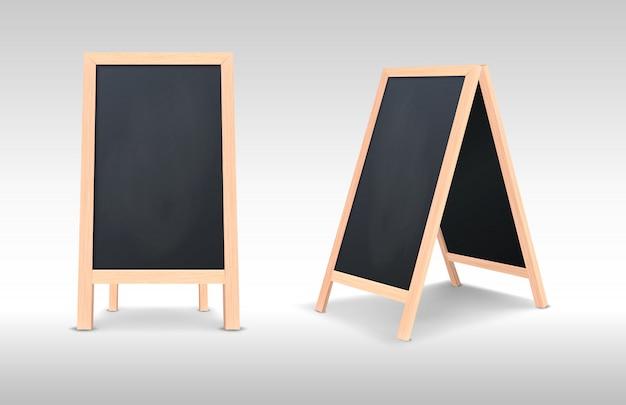 Insieme dell'icona della scheda annuncio menu realistico realistico.