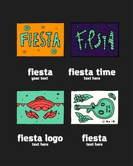 Insieme dell'icona di fiesta