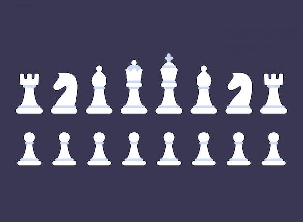Insieme dell'icona di pezzi degli scacchi