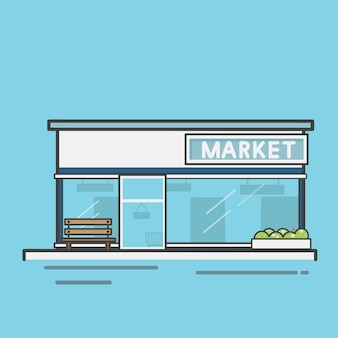 Insieme dell'illustrazione del vettore del supermercato