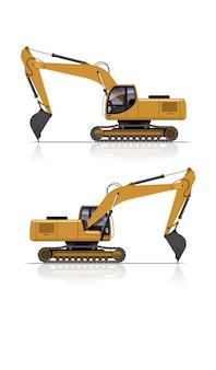 Insieme dell'illustrazione dell'escavatore
