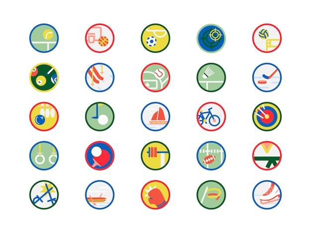 Insieme dell'illustrazione delle icone di sport