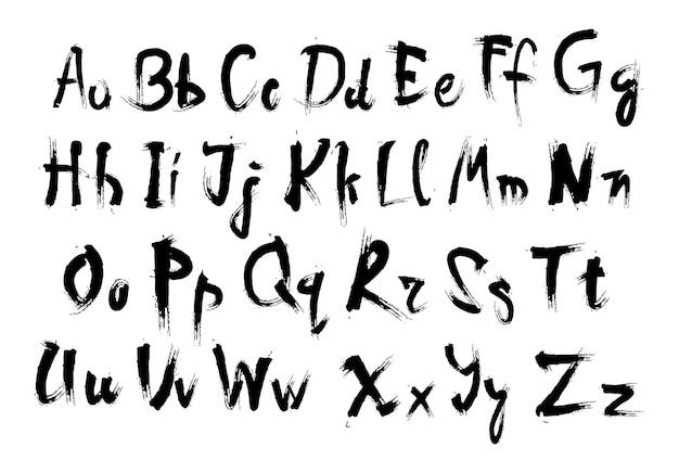 Insieme dell'iscrizione del testo della raccolta delle lettere di alfabeto