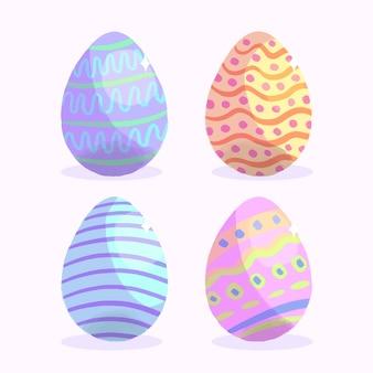 Insieme dell'uovo di giorno di pasqua dell'acquerello