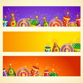 Insieme della bandiera di diwali