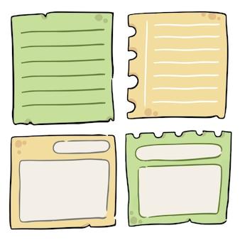 Insieme della raccolta di scarabocchio dell'illustrazione delle note