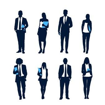 Insieme della siluetta della gente di affari