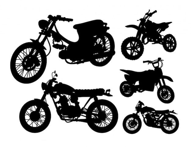 Insieme della siluetta di trasporto del motociclo