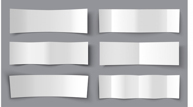 Insieme delle bandiere di carta piegate con le ombre, illustrazione materiale di disegno