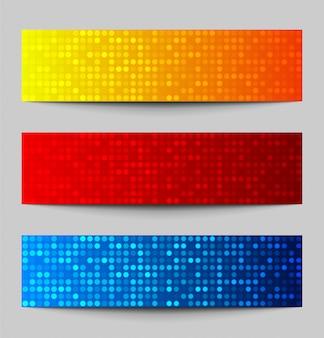 Insieme delle bandiere variopinte del pixel, illustrazione