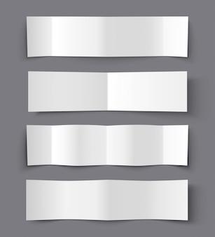 Insieme delle insegne di carta piegate con le ombre, illustrazione materiale di progettazione