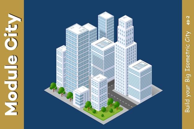 Insieme di aree urbane di moduli