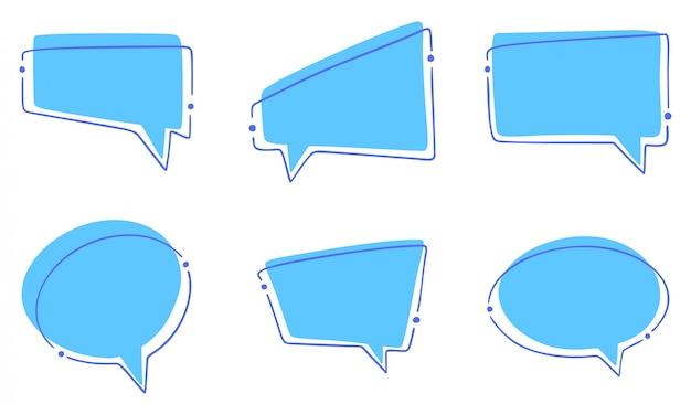 Insieme di bolle di discorso diverso