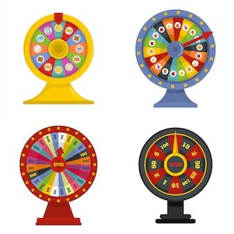 Insieme di concetto dell'insegna della ruota di rotazione