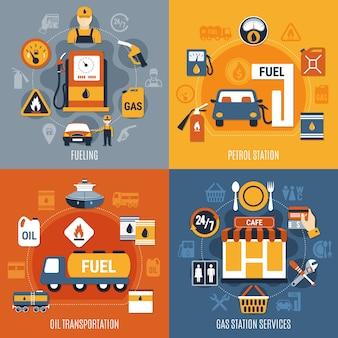 Insieme di concetto della pompa del carburante