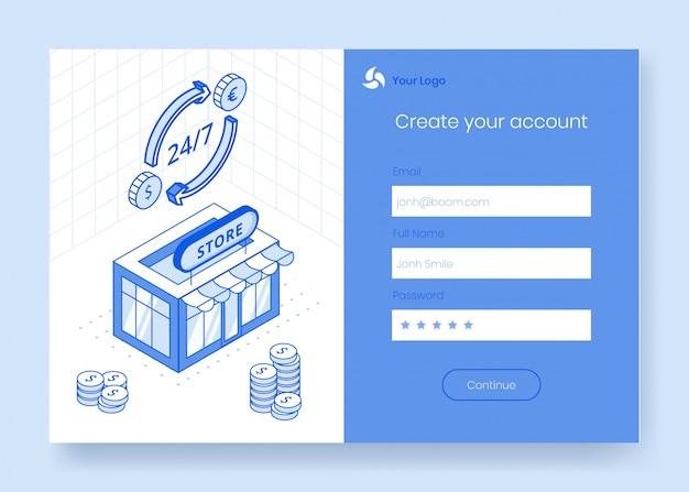 Insieme di concetto di design isometrico digitale delle icone di app finanziaria 3d di valuta estera