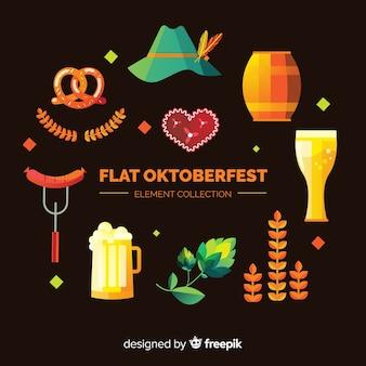 Insieme di elementi dell'oktoberfest