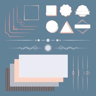 Insieme di elementi di design