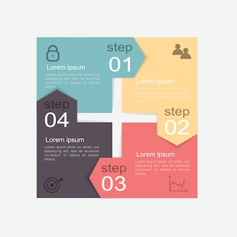 Insieme di elementi di infografica in stile moderno business piatto.