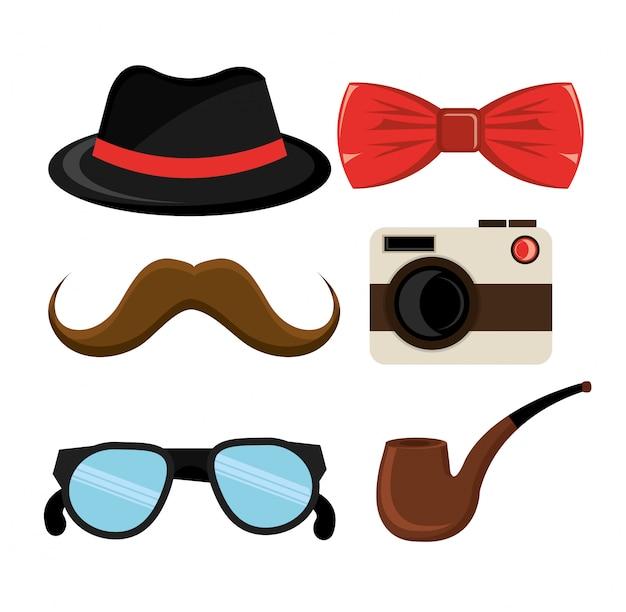 Insieme di elementi hipster