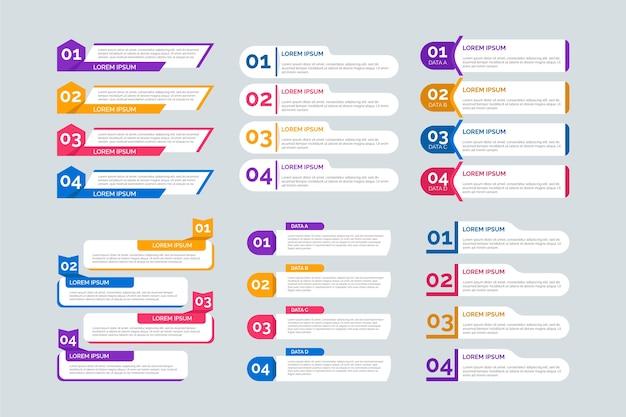 Insieme di elementi infographic piatto